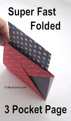 Super Fast Folded 3 Pocket Page by Crafty Journal...easy to make and could be added to any class made book to hold student work, link sheets etc