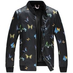 Butterfly jacket xxxl mens bomber jacket for autumn wear