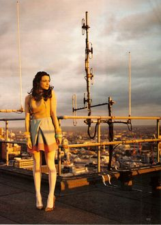 Rachel Weisz, I'm a nerd so cut me some slack, but the background reminds of Tatooine.