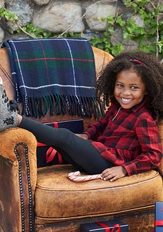 Ralph Lauren Childrenswear Playful in Plaid Collection Toddler Girls