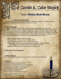 Indigo/Blue-Black Candle Magick Poster by Endora J. 14 of 23.