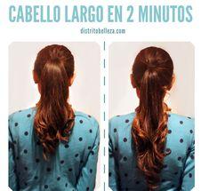 Con este tutorial puedes tener tu cabello largo en 2 minutos en una cola de caballo y sin extensiones! Es muy facil