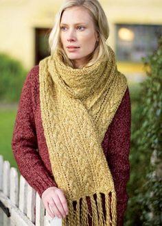 Solstice scarf in Rowan Silk Twist