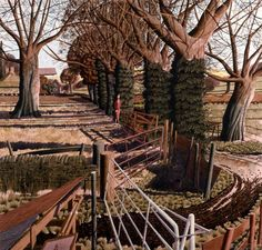 'The Lost Portrait of Penelope Plain' by Simon Palmer (ink, watercolour and gouache) Watercolor Landscape, Landscape Art, Landscape Architecture, Landscape Paintings, Classic Paintings, Royal College Of Art, Country Art, Modern Landscaping, Source Of Inspiration