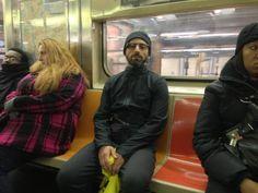 Sergey Brin Dons Google Glass, Dresses Like An International Jewel Thief For NYC SubwayRide