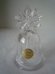 italian cristal bells   PRINCESS HOUSE 2000 24% LEAD CRYSTAL BELL WITH STAR HANDLE - ORIGINAL ...