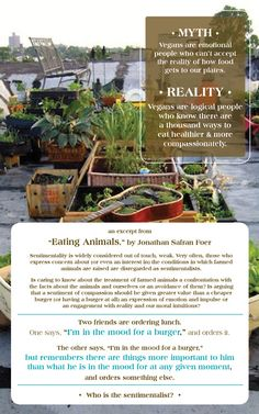 Veganism: Logic over instant gratification Ways To Eat Healthy, Healthy Eating, Compassion Quotes, Jonathan Safran Foer, Veganism, Films, Vegetarian, Canning, Watch