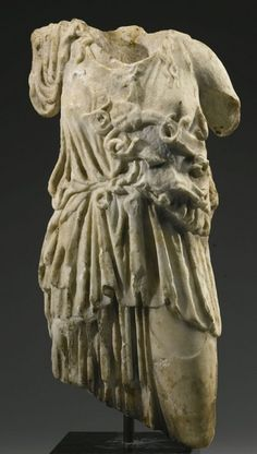 Athena Torso - Roman Imperial period, marble, circa 2nd c. A.D. - at the Sotheby's collection, London