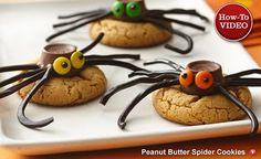 Halloween~ spider cookies