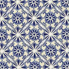 Blue Lace Talavera Mexican Tile