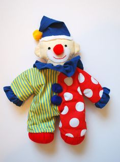 Plush Clown Rag Doll by cakenjelly on Etsy