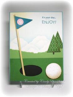 Stampin Up - Pennant Parade. Golf card.
