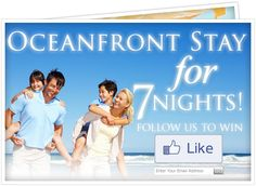 Win a 3 Day 4 Night stay at Grand Strand Resorts.