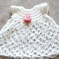 Solomon's Knot Baby Dress | Crochet Free Pattern