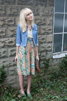 Garden Rose Print Skirt