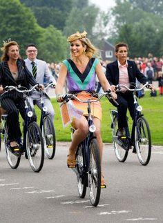 Dutch Queen Maxima attends the opening of the Maxima Park in the neighborhood Leidsche Rijn in Utrecht, 5 July 2013