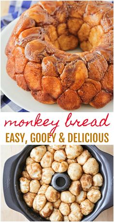 This easy, cinnamon monkey bread is so addicting and delicious. This homemade version is sweet and sticky and filled with ooey-gooey cinnamon goodness!