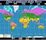 Materiali per LIM: cartina interattiva Climi e ambienti