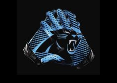 Carolina Panthers Gloves for the 2012 season by Nike