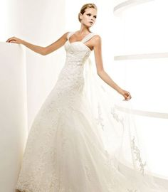 Sweetheart 2012 New Arrival Wedding Dress with Cap Sleeves and Embroidery and with Sweep Train $898.00