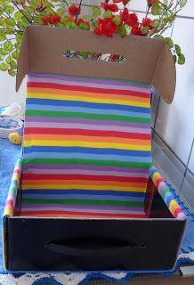 Cantinho da Malu: Caixa de papelão decorada com EVA- Reciclagem