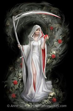 Write about this Grim Reaper. What's her story?
