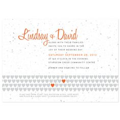 Tangerine Wedding Invitation