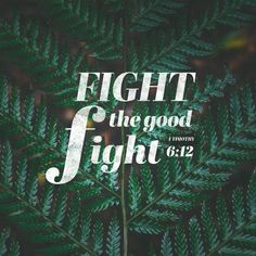 Fight the good fight for the true faith. Hold tightly to the eternal life to which God has called you, which you have declared so well before many witnesses. 1 Timothy 6 NLT http://bible.com/116/1ti.6.12.NLT