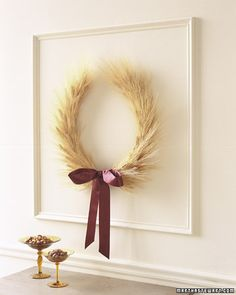 Wheat wreath how-to.