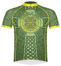 Primal Wear Ireland Celtic Knot Cycling Jersey Mens XL Short Sleeve Irish Green -- Click image to review more details.