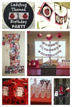 Ladybug Birthday Party- so many cute ideas from @Jamie Roubinek! #party #ladybug
