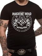 Officially licensed Machine Head t-shirt design printed on a black 100% cotton short sleeved T-shirt.