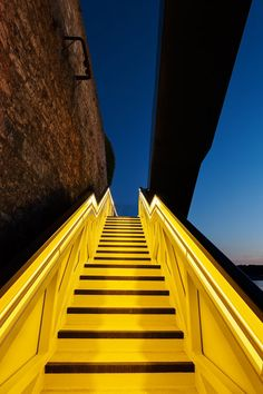 Coast Path Staircase by Gillespie Yunnie Architects - love the use of color on the staircase