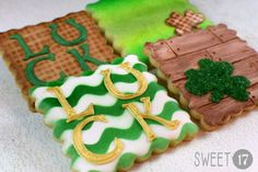 St. Patrick's Day Sugar Cookies (Set of Eight) by Sweet17Cookies on Etsy
