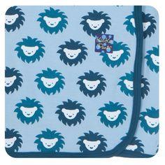 Kickee Pants Boys Swaddling Blanket, Pond Sunshine Lion