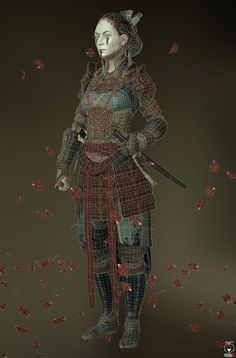 Samurai by Andres Naranjo | Realistic | 3D | CGSociety