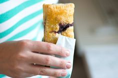 Store-bought puff pastry is the secret to these blueberry hand pies. See the quick and easy recipe now.