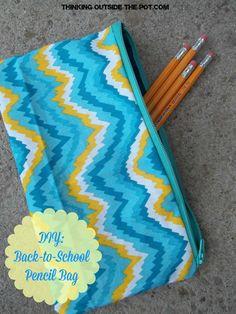 DIY back to school pencil bag