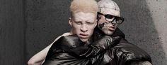 Shaun Ross x Rick Genest Shaun Ross, Rick Genest, Albinism, Winnie Harlow, Human Nature, Magazine Art, Jon Snow, Image, Beauty