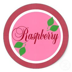 Raspberry Fruit Label