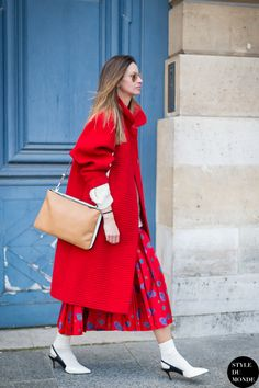 oversized coat with socks and sandals