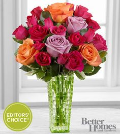 The FTD® Sun Sweetness™ Rose Bouquet by Better Homes and Gardens® - VASE INCLUDED