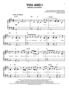 John Legend: You And I (Nobody In The World) Sheet Music Direct, Digital Sheet Music, You And Me Song, You And I, First Dance Songs, Dreams Do Come True, Easy Piano, Piano Sheet, Sheet Music