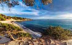 Download wallpapers Corsica, Mediterranean Sea, France, beach, morning, sunrise, coast