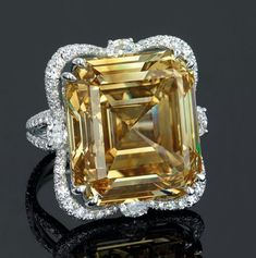 Iconic rings from Michelle Ong with a yellow diamond to go under the hammer at Christie's Hong Kong