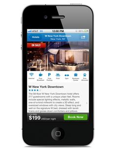 Priceline.com iOS App: Hotels & Flights by Kelly Shea, via Behance
