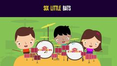 6 Little Bats Song for Kids | Halloween Songs for Children | The Kiboomers