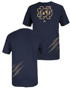 adidas Notre Dame Fighting Irish Blue Logo Shock T Shirt $21.95