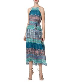 Shop for Donna Morgan Pleated Printed Midi Halter Dress at Dillards.com. Visit Dillards.com to find clothing, accessories, shoes, cosmetics & more. The Style of Your Life.