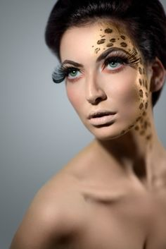 animal print makeup and beauty- iwould like to have that as a tattoo <3